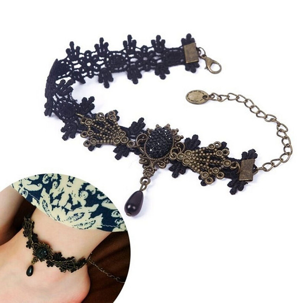 New Fashion Jewelry Chain Sexy Lace Beads Pendant Foot Anklets For Women Girl TO