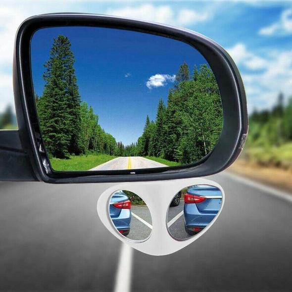2 In 1 Car Blind Spot Mirror Wide Angle Mirror 360 Rotation Adjustable Conv F2M6