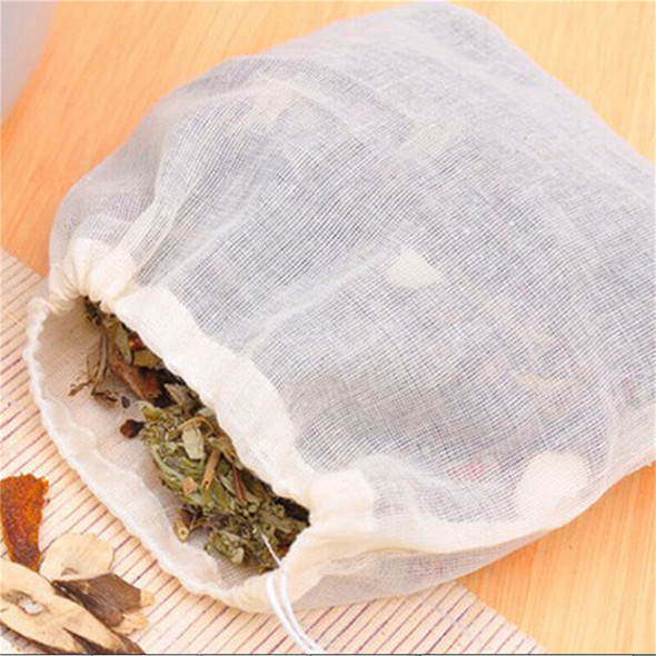 10 Pcs 8x10cm Large Cotton Muslin Drawstring Reusable Bags for Soap Herbs Tea TO