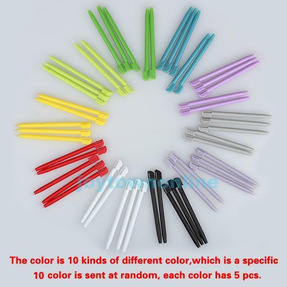50x Multicolor Plastic Touch Screen Pen Stylus for Nintendo 3DS NDSL NDS NDSI XL