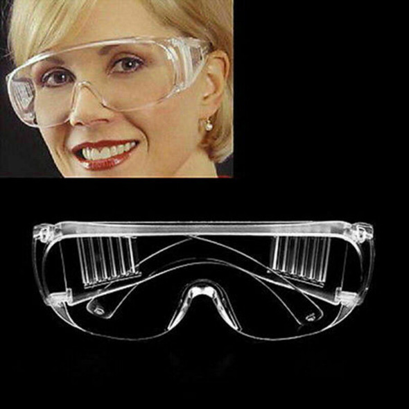 Transparent Vented Safety Goggles Eye tection tective Lab Glasses Sale Fog O3F6