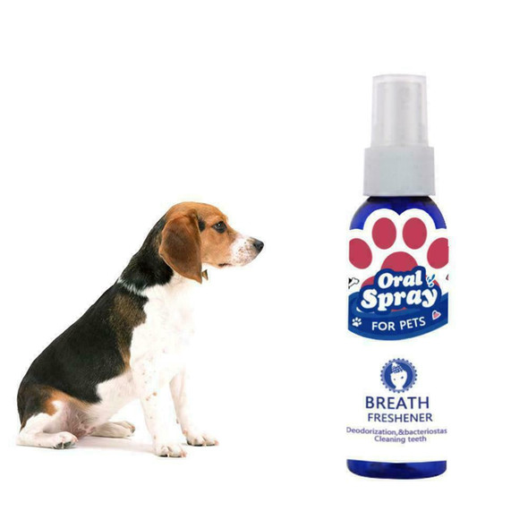 Pet oral cleanser 60ml Mouth Spray Dog Puppy Fresh Breathing Useful Dental P1I6