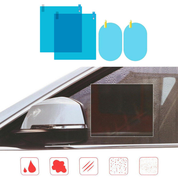 4 PCS For Car Rearview Mirror Protective Film Rainproof Easy Useful