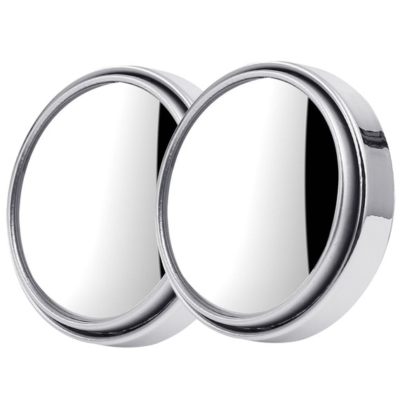 2x Car Rotation Small Round Mirror 50mm Blind Spot Reversing Rearview Best