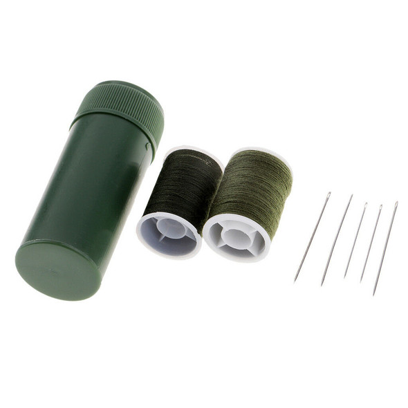 Needle and Thread Sewing Kit with Green Storage Box Useful Sewing Accessory