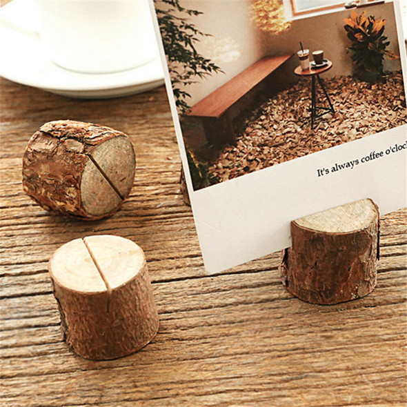 10X Wooden Party Table Number Stand Place Name Card Holder Decoration Decor JR