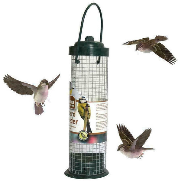 Hanging Plastic Green Safe Nontoxic Bird Feeder Outdoor Decoration 2 W5B0 G X9F1