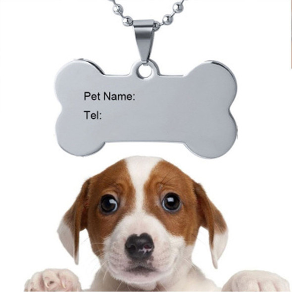 Bone Shape Custom Engraved Dog Tag Cat Name Phone Personalized ID Tags PDV
