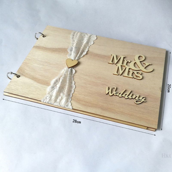 Guest Book Wooden Tree Personalised Guest Book Wood Wedding Decoration NKI