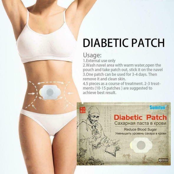 Sumifun Diabetes Patch Lower Blood Glucose Patches Chinese Cosy Reduce Medi A1P4