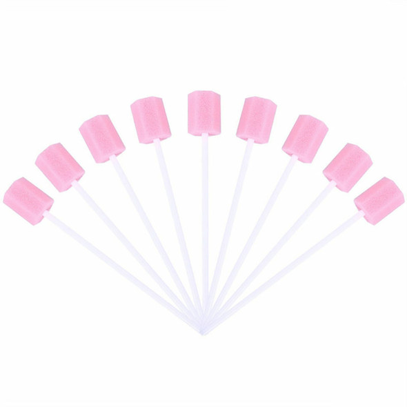 100x Disposable Oral Care Sponge Swab Tooth Cleaning Mouth Swabs Clinic Hospital