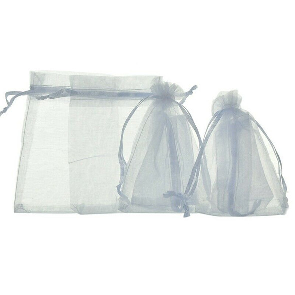 100Pcs bags / pouches made of Organza cord sliding clamp - for wedding, jeweS7R4