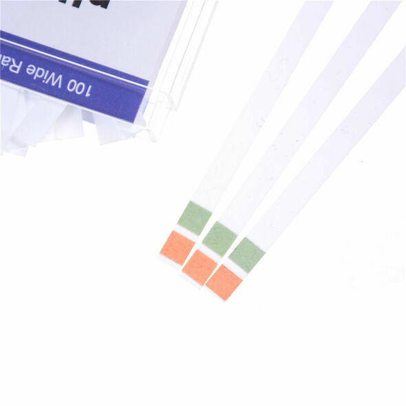 100x New Two Color Saliva Slaver For Urine Pregnancy Test Paper PH 4.5 9.0 BX