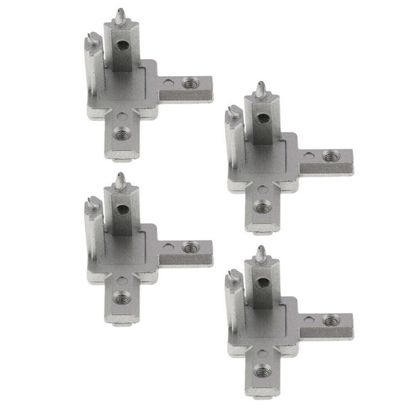 Set of 4, 3 Way Interior Connector Bracket Fitting for 2020 Aluminum Profile