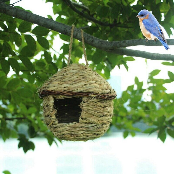 Grass Bird Hut ,Cozy Resting Place for Birds,Provides Shelter From Cold WeatJ9X5