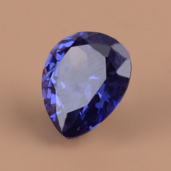 Large 5.38CT Blue Zircon Tanzanite Unheated 9X11mm Pear Shape of AAAA+ Loose Gem