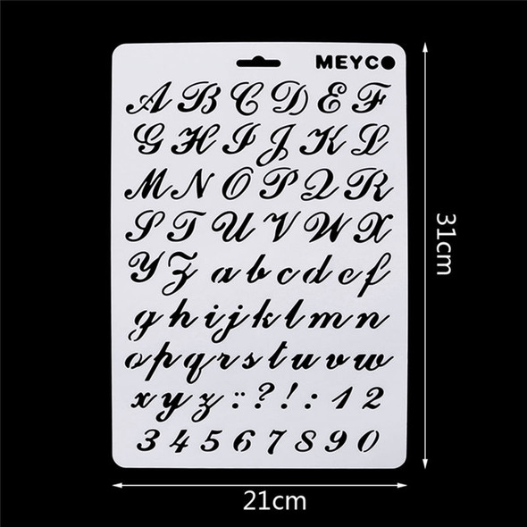5X(Lettering Stencils, Letter and Number Stencil, Painting Paper Craft Alp H2M5)