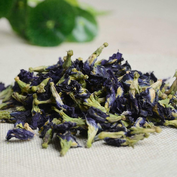 100% Thai Dried Butterfly Pea Flower Pure Organic-Natural Herbal Blue-Drink-