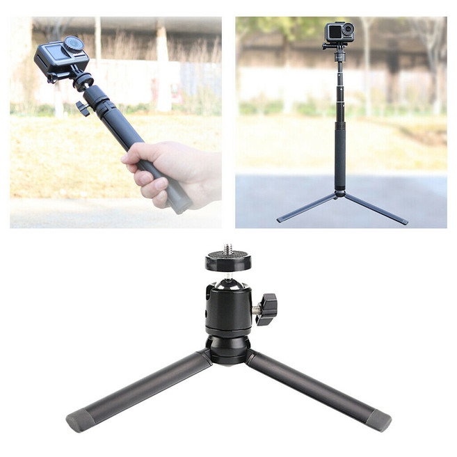 Small Aluminum Desktop Tripod Stand for DJI OSMO GoPro Series Action Camera