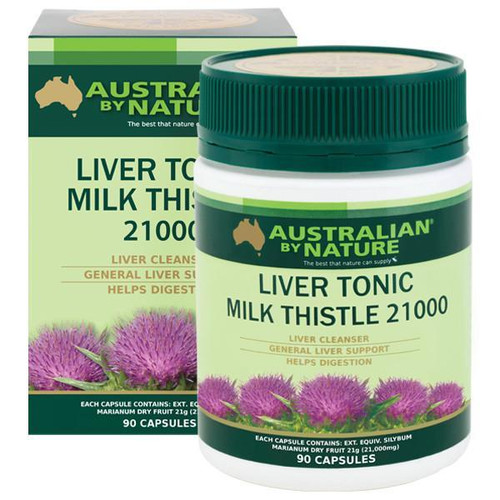 Australian by Nature Liver Tonic Milk Thistle 21,000 mg 90 Capsules