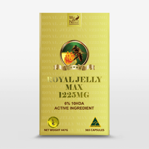 ROYAL JELLY MAX 1225 MG 365 Capsules Well Being Nutrition