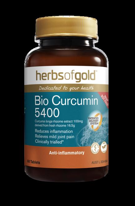 Herbs of Gold Bio Curcumin 5400 / 60 Capsules