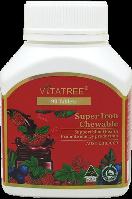 Vitatree Super Iron Chewable / 90 Tablets