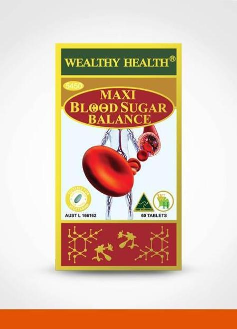 Wealthy Health Maxi Blood Sugar Balance 60 Tablets