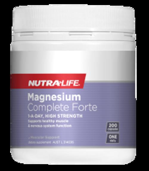 Nutralife Magnesium Complete Forte / 200 Capsules