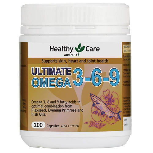 Healthy Care Ultimate Omega3, 6, 9 / 200 Capsules
