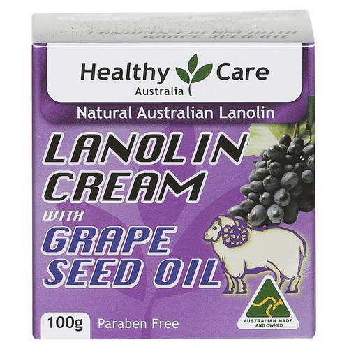 Healthy Care Lanolin cream with Grape Seed Oil 100g