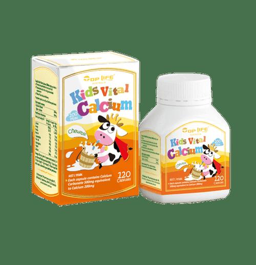 Top Life Kids Vital Calcium - 120 Capsules