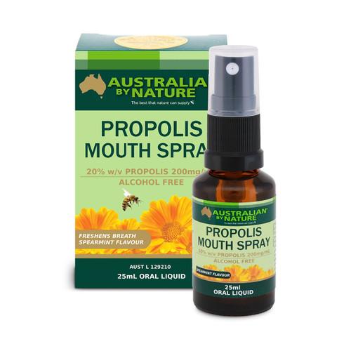 Australian By Nature Propolis Mouth Spray 25ml Oral Liquid