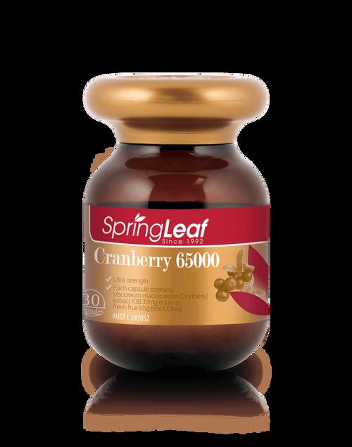 Springleaf-Cranberry 65000 30 Capsules