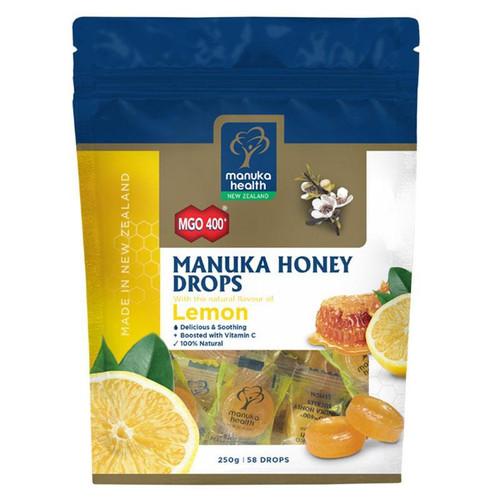 Manuka Health Manuka Honey Drops Lemon Pouch Lozenges 250g