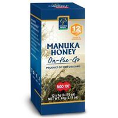 Manuka Health MGO 100+ Manuka Honey 60g On The Go 12 Snap Pack