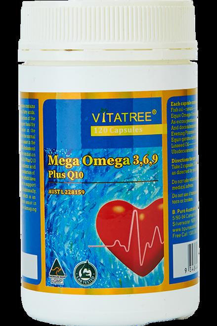 Vitatree Omega 3,6,9 Plus CoQ10 / 120 Capsules