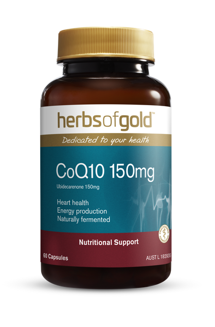 Herbs of Gold CoQ10 150 MAX 60 Capsules