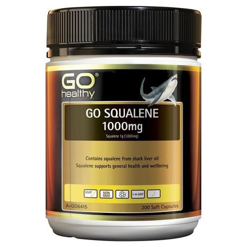 Go Healthy Squalene 1000mg 200 Softgel Capsules