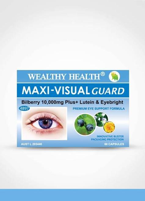 Wealthy Health Maxi-Visual Guard Bilberry 10000 Plus / 60 Capsules