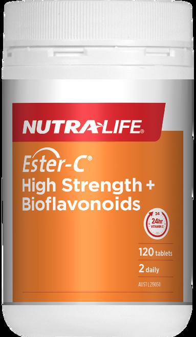 NutraLife Ester-C High Strength+ Bioflavonoids 120 Tablets