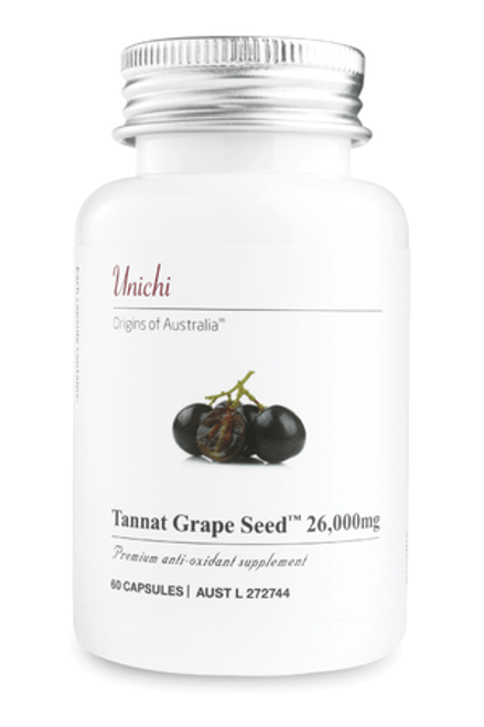 UNICHI Tannat Grape SeedTM 26,000mg 60 Capsules