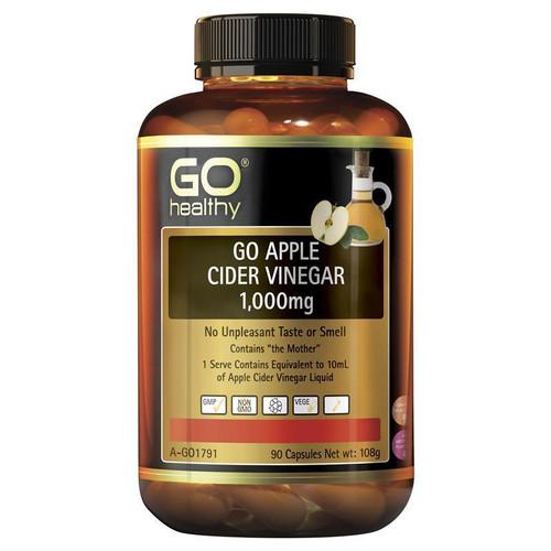 Go Healthy Apple Cider Vinegar 1000mg 90 Capsules