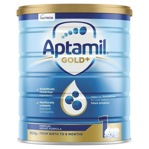 Aptamil Gold+ 1 Infant Formula from Birth to 6 Months 900g