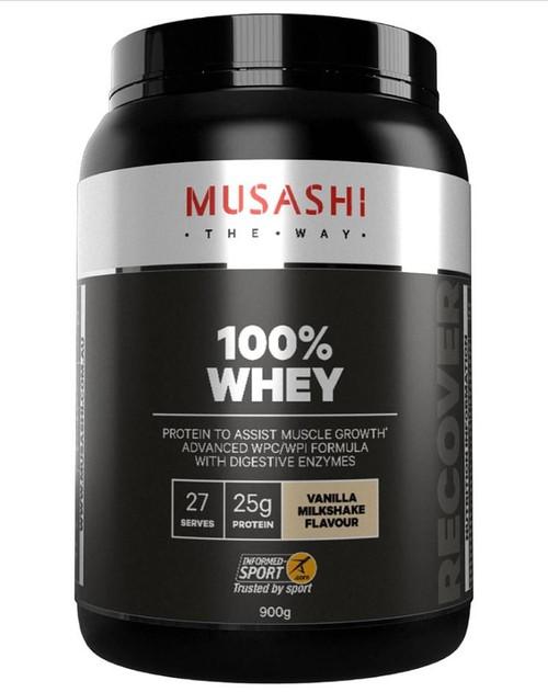 Musashi-100% WHEY Protein Powder Vanilla flavour 900g