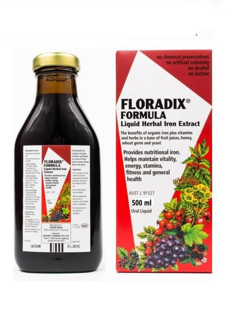 Floradix Formula Liquid Herbal Iron Extract 500mL Oral Liquid