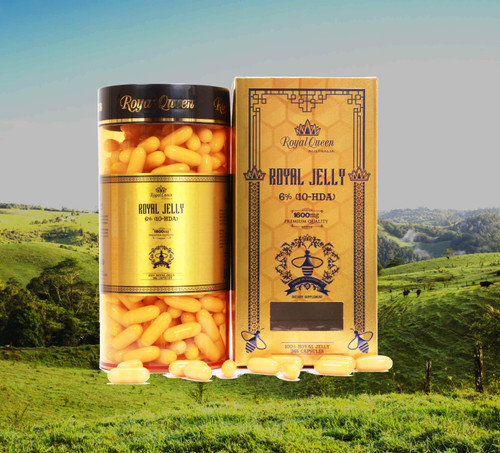Royal Queen Royal Jelly 1600mg 365 Capsules