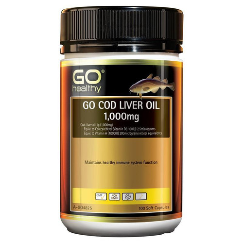 Go Healthy Cod Liver Oil 1000mg 100 Soft Capsules