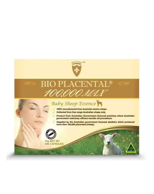 Bio Placental 100,000 Max Baby Sheep Essence 100 Capsules