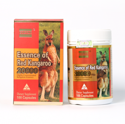 Costar Essence of Red Kangaroo 20800 Max Highly Concentrated Kangaroo Essence / 100 Capsules